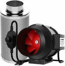 VIVOSUN 6Inch 390 CFM Inline Duct Fan w/ Carbon Filter Odor Control  for Tent
