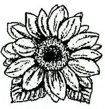 Fall Tiny SUNFLOWER BLOSSOM Wood Mounted Rubber Stamp NORTHWOODS AA10300 New