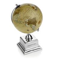 AG Spalding & Bros Globo Vintage alluminio mappamondo scrivania 862794U828