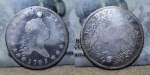 1795 Flowing Hair Half Dollar 50c Plugged Hole