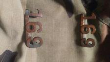 WW1 WWI CEF Collar Badge Pair - 169th Battalion - Maker Marked