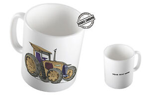 Personalised Tractor Mug Cup & Coaster. Add Name and Text - ILS2100 4-Design