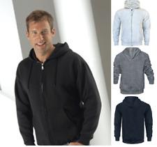 Mens CZ Zip Up HOODIE Hooded Sweatshirt Fleece Top Plain Hoody Jumper Pullover E