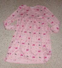 Pink Gymboree L/S Nightgown w/ Dogs & Hearts, Purrfect Autumn Sleepwear, L 10 12