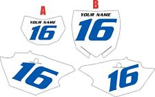 2016-2018 Yamaha WR450F Pre-Printed White Backgrounds with Blue Numbers
