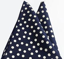 Pocket Square Blau Weiss Polka dots-Einstecktuch-pañuelo de bolsillo
