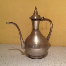Hammered Worn Brass Plated Persian/Arabian Ottoman Teapot/Water Pitcher
