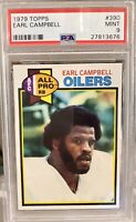PSA 9 1979 Topps #390 Earl Campbell RC Mint