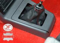 POUR PEUGEOT 205 GTI SOUFFLET LEVIER DE VITESSE CUIR  VERITABLE ROUGE PIQUER