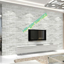 10m Brick PVC Thicken Stone Wall Paper Deep Embossed Textured 3d Wall Covering