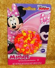 Minnie Mouse Sprinkles,Candy Decorations,Cupcake Toppers,Edible,Wilton.710-4615