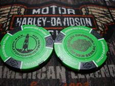 Harley Neon Green & Black Poker Chip From New Bern Harley Davidson New Bern, NC