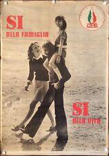 MOVIMENTO SOCIALE ITALIANO Manifesto Poster Affiche DESTRA PARTITO FAMIGLIA FAMI
