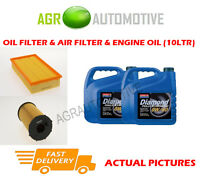 DIESEL OIL AIR FILTER KIT + 0W40 OIL FOR JAGUAR XJ6 2.7 207 BHP 2005-09