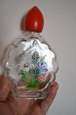 Belle bouteille à eau de vie, liqueur INNSBRUCK - Fleurs peintes à la main