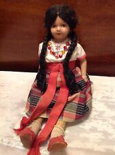 "Vintage Antique 14"" Spanish Girl Doll"