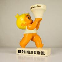 Berliner Kindl Gips Figur Brauerei Bier Werbung Antik Vintage Goldjunge 30er