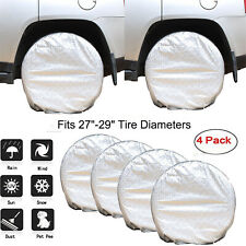 "4Pcs Wheel Tire Covers for RV Truck Car Auto Camper Trailer 27"" to 29'' Diameter"