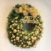 New Christmas Wreath 40/50cm Door Wall Hanging Ornaments Xmas Garland Decoration