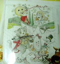 Design Works Gift from Heaven Woodland Animals Nursery Decor Cross Stitch 2 Kits: Baby Quilt and Birth Announcement with 2 Gift Cards
