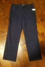 New IZOD Men's Size 33W X 30L Flat Front Straight Fit Cotton Pants Bottoms