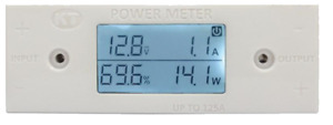 KT 100V, 125Amp In-Line Power Meter – Volts, Amps, Watts & Battery Percentage