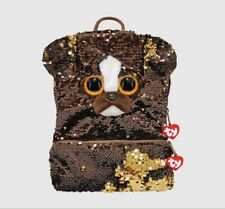 TY Brutus Reversible Sequin Square Dog Backpack
