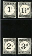 Grenada 1921 KGV Postage Due set complete MLH. SG D11-D14. Sc J11-J14.