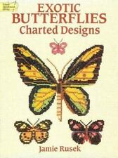 """NEW!  Dover Needlework Series """"Exotic Butterflies"""" Charted Designs*Cross Stitch"""