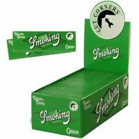 Smoking Rolling Paper Standard  Green Box of 50 Booklets