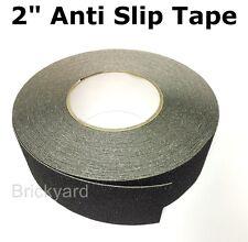 "2"" x 50' BLACK Roll Safety Non Skid Tape Anti Slip Tape Sticker Grip Safe Grit"