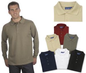 Langarm Poloshirt Qualityshirts Baumwolle Gr. S - 8XL auch in Übergrößen