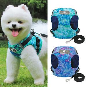 Fashion Small Dog Vest Harness &Lead Reflective Pet Puppy Cat Clothes Schnauzer