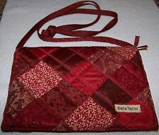 BELLA TAYLOR Victorian Heart Quilted Purse Bag RED ~ Pre-Owned
