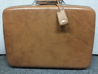 Vintage Samsonite Suitcase Profile II BROWN Large 22 x 16 x 8 Hard Luggage 1 Key
