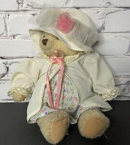 """Hallmark 2003 Mary Mary Bearworthy Plush Bears Wearing Hat Jacket & Dress 14"""""""