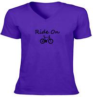 Ride Bicycle Unisex Tee T-Shirt Mens Women Gift Shirts Print Funny Ride Bike