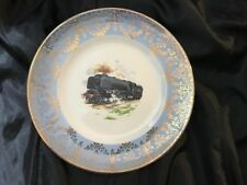 Axe Vale Pottery Steam Locomotive Design Plate Derick Bown 9 Inches Diameter