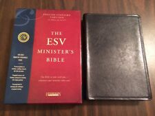 *SEALED* ESV Ministers Bible - Black Genuine Leather - OUT OF PRINT 2007