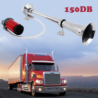 150DB Super Loud 12V Single Trumpet Air Horn Compressor For Truck Boat Train Car