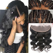 13x4 Ear to Ear Lace Frontal Closure Virgin Human Hair Indian Peruvian Mongolian