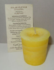 Solar Plexus CHAKRA candle Crystal Journey CANDLES Meditation votive Manipura