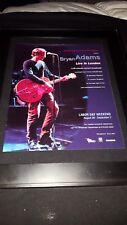 Bryan Adams Live In London Rare Original Radio Promo Poster Ad Framed!