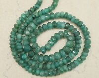 "EMERALD 3mm-5mm Faceted Rondelle Gemstone Beads 16"" Strand [Select-A-Size]"