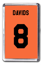 Edgar Davids Netherlands Number 8 Football Shirt Fridge Magnet Design