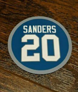 Barry Sanders Magnet - #20 Jersey Design - Detroit Lions - 4 inch diameter