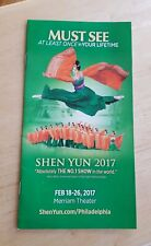 Shen Yun 2017 Merrial Theater Philadelphia Falun Dafa color Brochure mailer Rare