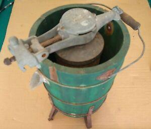 1930's KitchenAid Model G Wood Body Ice Cream Maker Complete w/ Spring Gauge