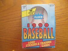 1990 Fleer Baseball Logo Stickers Hobby Wax Box Cards 36 Ct Sosa Rookie