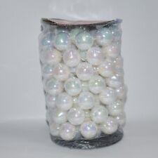 Perle per albero di Natale addobbi da decorazioni natalizie bianco rotolo 3mt